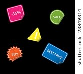 set of stickers | Shutterstock .eps vector #23849314