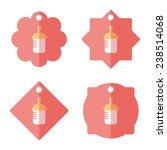 baby bottle tag flat banner ... | Shutterstock .eps vector #238514068