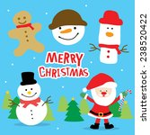merry christmas santa and... | Shutterstock .eps vector #238520422