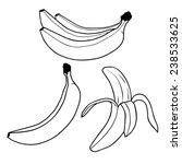 Banana Fruit Outline Vector