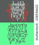 vector alphabet. hand drawn... | Shutterstock .eps vector #238536622