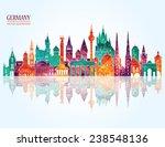 travel germany famous landmarks ... | Shutterstock .eps vector #238548136