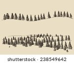 contours of the mountains with... | Shutterstock .eps vector #238549642