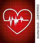 medical design over red... | Shutterstock .eps vector #238559002