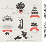 set of vintage elements for... | Shutterstock .eps vector #238568302