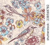 hand drawn botanical  seamless... | Shutterstock .eps vector #238568782