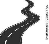 Vector Images, Illustrations and Cliparts: Winding road ...