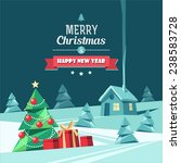 christmas and new year. vector... | Shutterstock .eps vector #238583728
