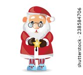 santa claus pajamas  show on...   Shutterstock .eps vector #238584706