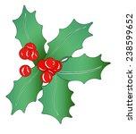 christmas garland  ... | Shutterstock .eps vector #238599652
