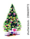 decorated christmas tree ... | Shutterstock . vector #238600972