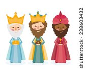 the three kings of orient on a...   Shutterstock .eps vector #238603432