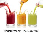 fruit juices poured from... | Shutterstock . vector #238609702