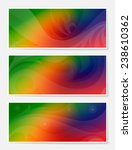 set of multicolor blur abstract ... | Shutterstock .eps vector #238610362