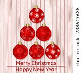 vector christmas card with... | Shutterstock .eps vector #238619638