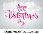 2015 happy valentine's day... | Shutterstock .eps vector #238626238
