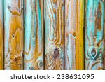 Vivid Colours On Wooden Fence...