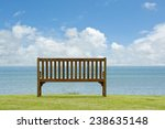 Wooden Bench On Open Space...
