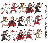 christmas and halloween team... | Shutterstock .eps vector #238646065