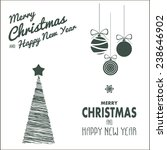vector christmas attributes | Shutterstock .eps vector #238646902