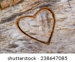 Sketch Of A Heart Engraved On...