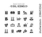oil icons set. | Shutterstock .eps vector #238653262