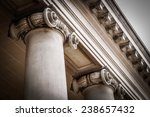 columns in the courtyard of the ... | Shutterstock . vector #238657432