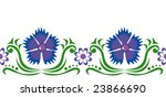 seamless ornament with blue... | Shutterstock .eps vector #23866690