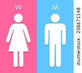 men and women toilet sign... | Shutterstock .eps vector #238671148