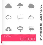 vector cloud icon set on grey... | Shutterstock .eps vector #238672732