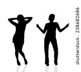 vector silhouette of a woman on ... | Shutterstock .eps vector #238682686