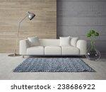 3d render. modern interior with ... | Shutterstock . vector #238686922