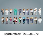 people of different professions ... | Shutterstock .eps vector #238688272