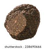 Small photo of cut truffle mushroom