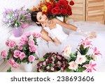 fashion studio photo of...   Shutterstock . vector #238693606