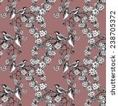 birds on tree spring twigs... | Shutterstock .eps vector #238705372