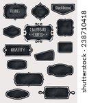 chalkboard frames and labels  ...   Shutterstock .eps vector #238710418