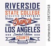 sport athletic california... | Shutterstock .eps vector #238725418