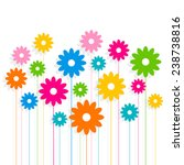 creative colorful flower... | Shutterstock .eps vector #238738816