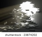 conception of destructive forces | Shutterstock . vector #23874202