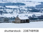 Wensleydale Barn In The Snow