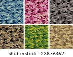 camouflage vector set  camoflage | Shutterstock .eps vector #23876362