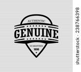 authentic genuine    vector... | Shutterstock .eps vector #238766398