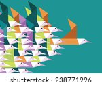 geometric group of birds.... | Shutterstock .eps vector #238771996