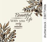 vector illustration of floral... | Shutterstock .eps vector #238773406