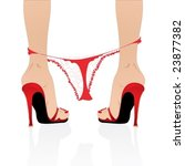 naked woman legs in sexy red... | Shutterstock .eps vector #23877382