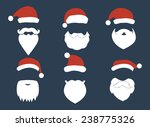 santa hats  moustache and... | Shutterstock .eps vector #238775326