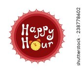 happy hour vector illustration   Shutterstock .eps vector #238778602