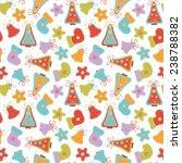 seamless pattern for christmas. | Shutterstock .eps vector #238788382