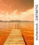 Wooden Jetty On Lake Chiemsee